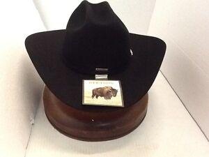 d3be6f4b2e STETSON 4X BUFFALO FUR- CORRAL COWBOY WESTERN BLACK HAT+FREE BRUSH+ ...
