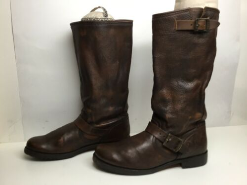 VTG WOMENS FRYE ENGINEER BROWN BOOTS SIZE 9