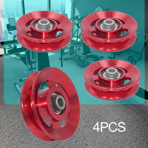 4pcs 88mm Lager Riemenscheibe Rad für Kabel Gym Ausrüstung Aluminiumlegierung