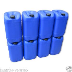 8 x 25 liter kanister blau wasserkanister getr nkekanister. Black Bedroom Furniture Sets. Home Design Ideas