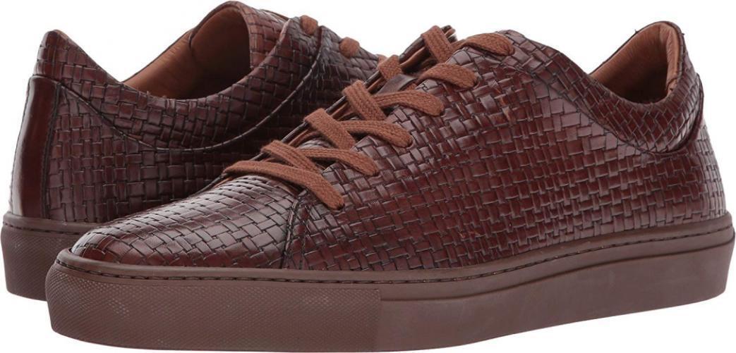 Aquatalia Men's Alaric Fashion Sneaker Leather Casual Low Top Comfort Walking