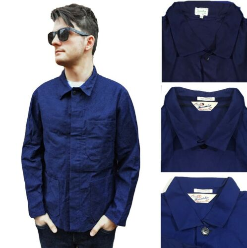 CHORE French EU Worker Work Jackets - Navy Blue -
