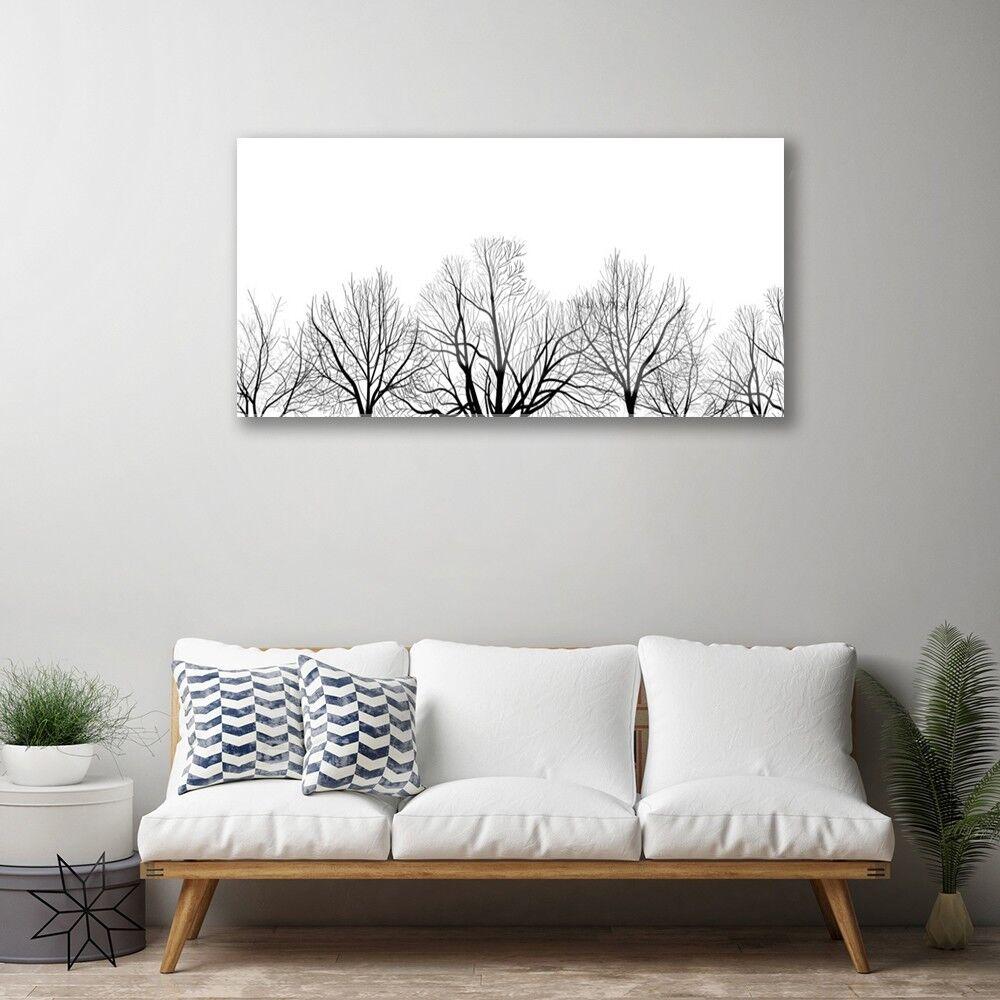 Image sur verre acrylique Tableau Impression 100x50 Nature Arbres