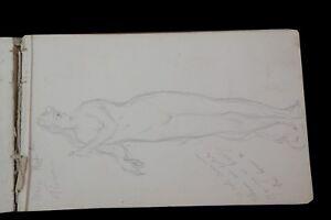 Leon-Chavalliaud-1858-1921-Carnet-Drawings-Botticelli-Italy-Reims-Florence-Nu