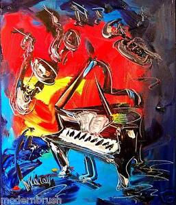 Blue Jazz  ORIGINAL***Abstract Art Modern  **PAINTING ON CANVAS SDF56uB