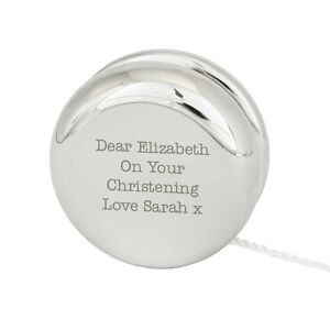 Personalised-Silver-Finished-Engraved-YoYo-Great-Wedding-Favour-Page-Boy-Baby