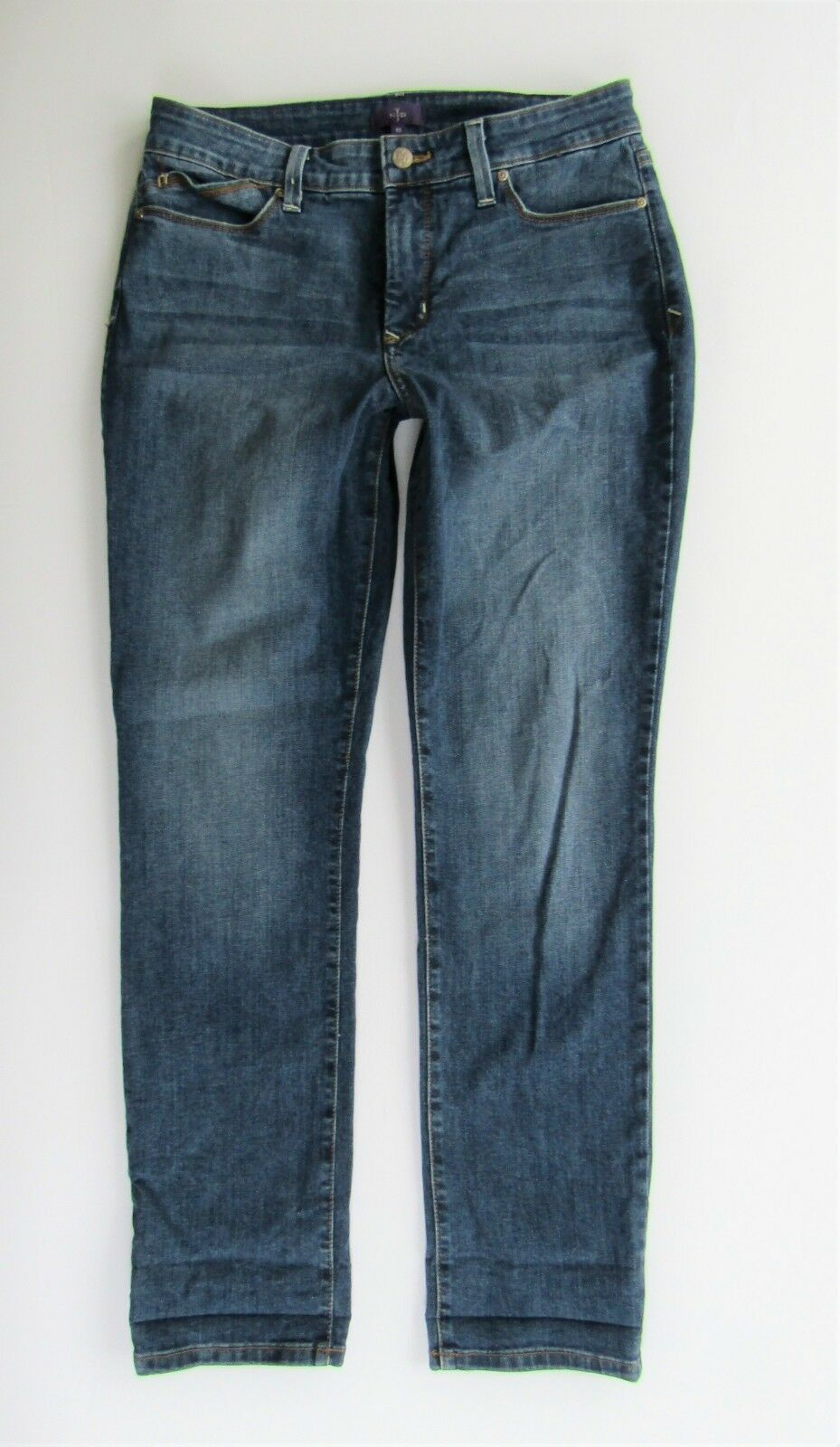 NYDJ Not Your Daughters Jeans Leann Skinny Boyfriend Legging Medium Wash Size 10