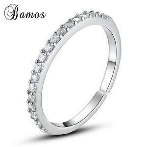 Schmaler-Damen-Ring-echt-Sterling-Silber-925-mit-3mm-Zirkonia