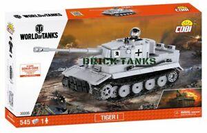 Tiger I ('monde des chars') - Cobi 3000b 545 char lourd Brick Wwii