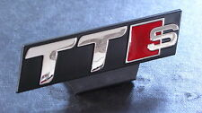 TTS Car Front Grill Badge S Line TT Quattro Black Audi Sport