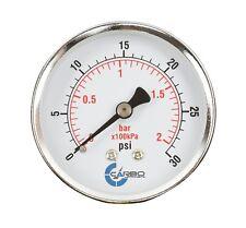 2 12 Pressure Gauge Chrome Plated Steel Case 14npt Back Mnt 30 Psi