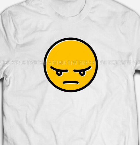 ANGRY FACE EMOJI EMOTICON SMARTPHONE INTERNET CHAT MENS FIT T-SHIRT TEE SHIRT