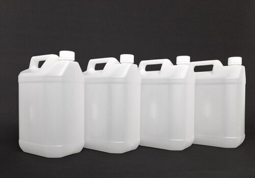 5 L Water Jerry Can Plastic Carrier Set Storage Tank Container Food Bottle 4x pc