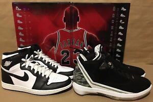 best service 14500 3d38c Image is loading Air-Jordan-Black-White-Shoes-1-22-I-