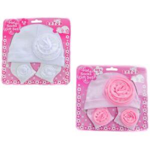 Neu Baby Mädchen Mütze Sockchen Set Gr.3 6 Monaten Soft Touch Englandmode AusgewäHltes Material Baby Kleidung, Schuhe & Accessoires