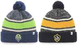 '47 Brand MLS Fairfax Soccer Futbol Cuff Knit Pom Ball Hat Winter Cap Ski Beanie