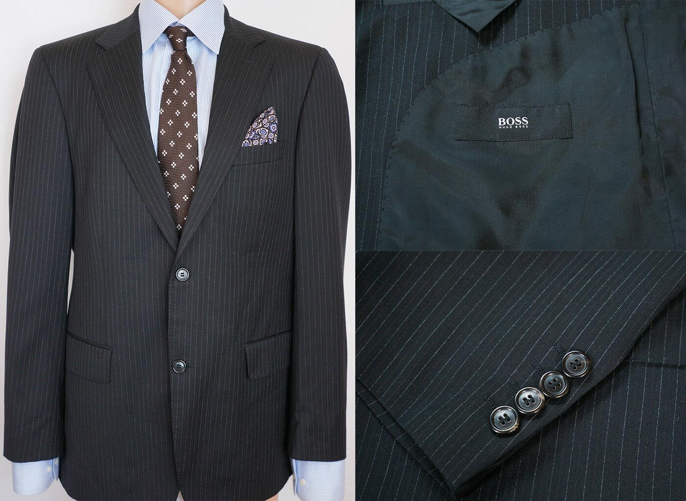 Herren Hugo Boss Jacke Blazer Cooper Reno Schwarze Wolle L It50 Us UK 40 Qaa134