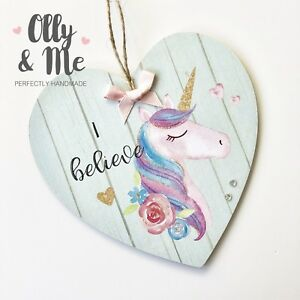 Wooden Gift Plaque//Sign Baby//Child Birthday Nursery//Room Decor Be More Unicorn
