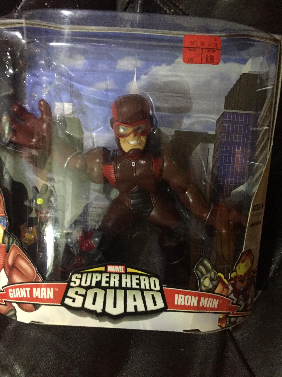 Marvel Super Eroe Squad Gigante Man e Iron Mega Misura Confezione Action Figure
