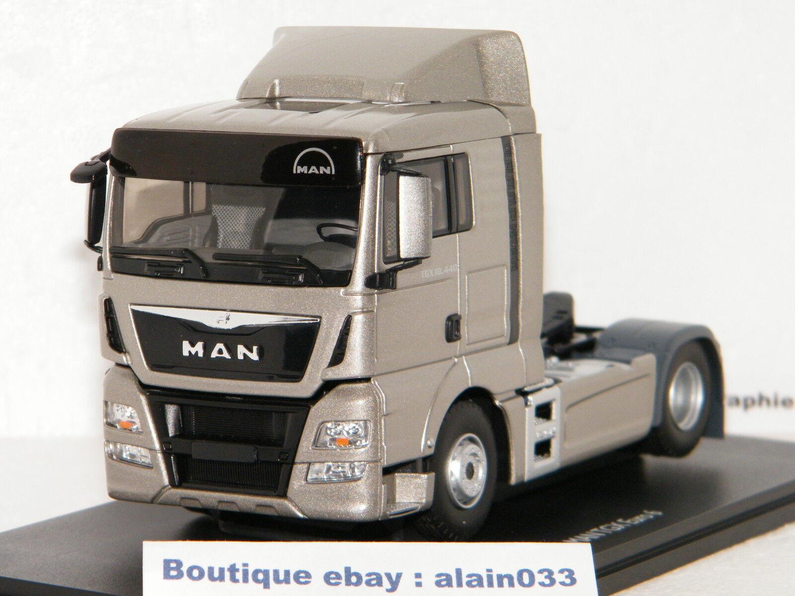 MAN TGX EURO 6 LX plata METALLIC TRACTEUR SEUL ELIGOR 1 43 Ref 115120