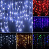Icicle Hanging Snowing String Fairy Curtain LED Lights Christmas Festival Party