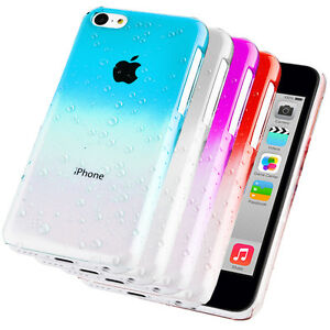 Accessories-For-Apple-iPhone-5C-Stylish-3D-Rain-Drop-Hard-Case-Cover-Film
