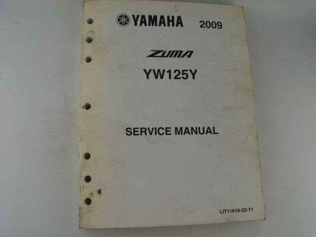 Genuine Yamaha 2009 Zuma Yw125y Yw125 Yw 125 Y Service