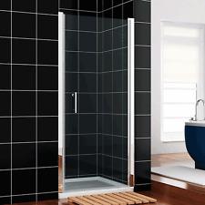 """NEW 30"""" x 72"""" One-Panel Frameless Pivot Shower Door Clear Glass Chrome Finish"""