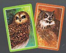 Playing Swap Cards 2 VINT  GENUINE  OWLS  BIRDS  PAIR       585