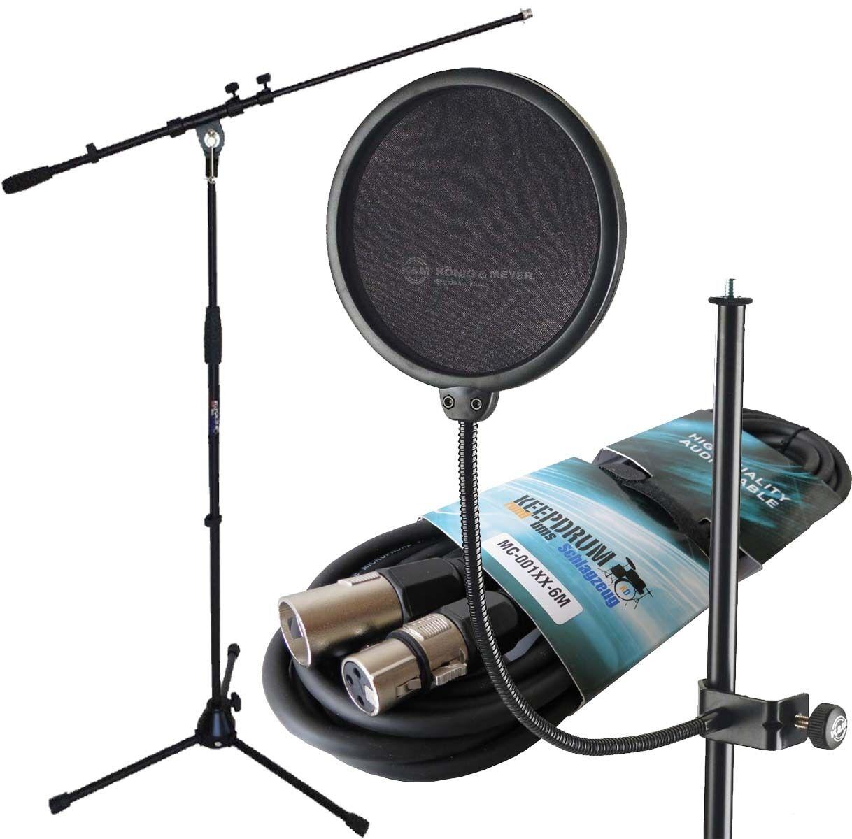 K & m 23956 popschutz popschutz popschutz + KEEPDRUM micrófono soporte + 6m cables del micrófono 906b58