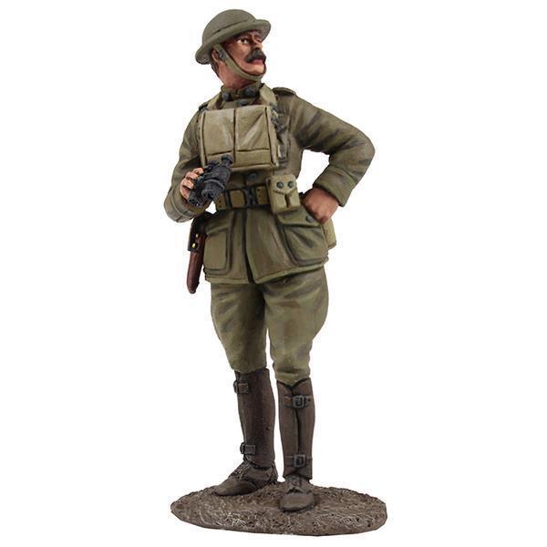 23105 - U.S. Officer with Binoculars, 1917-18 - WWI - W. Britain