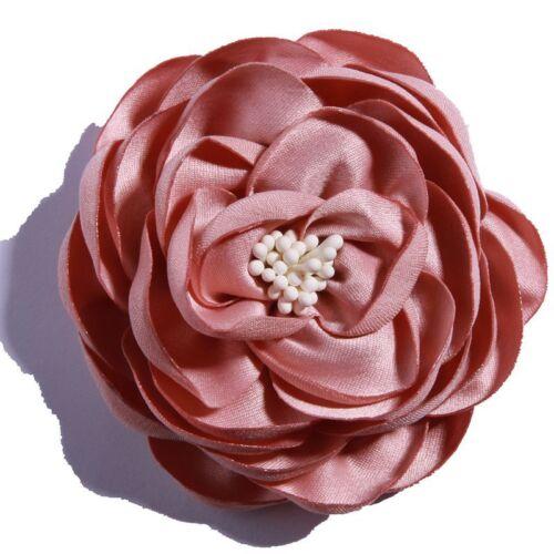 Details about  /50PCS 7CM Vintage Burned Eage Satin Flowers With Stamen For Headdress