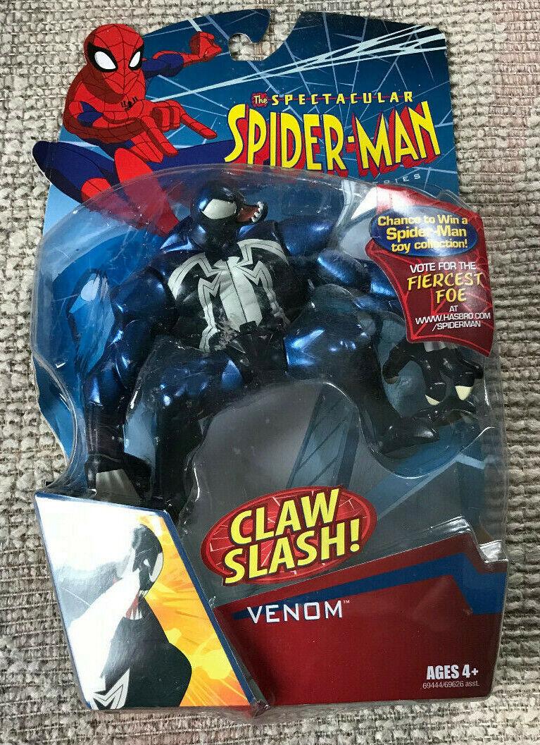 VINTAGE SPECTACULAR SPIDER-MAN CLAW CLAW CLAW SLASH VENOM ANIMATED MOC NEW a21c26