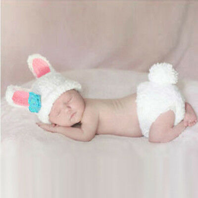 Baby Girls' Boys' Newborn Knit Crochet Mermaid Bunny Clothes Photo Prop Outfits