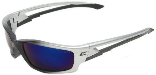EDGE EYEWEAR Black with Blue Mirror Lens SK118 Kazbek Safety Glasses