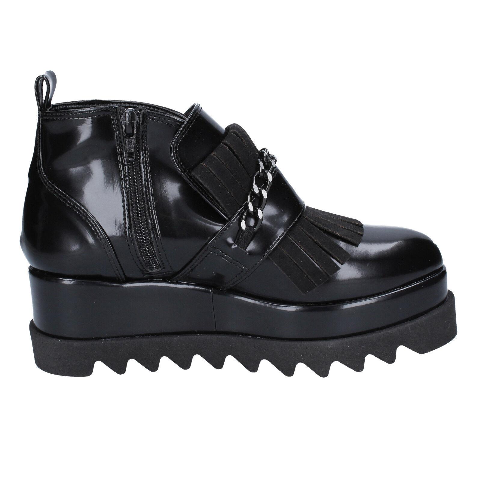 Damen schuhe OLGA RUBINI elegante 39 EU ankle Stiefel elegante RUBINI schwarz leder BX782-39 400604