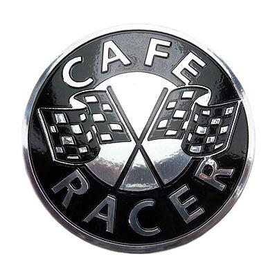 Aluminium Cafe Racer Emblem Tankemblem Café Racer Raceflag