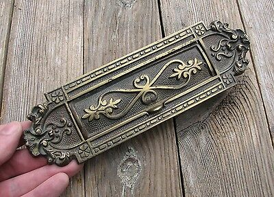 Antique Victorian Ornate Solid Brass Letter Box Plate / Door Mail Slot /  Mailbox - Antique Letter Box Plates Collection On EBay!
