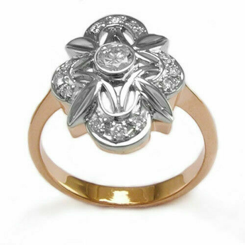 Details about  /1.00 Ct Vintage Cut Diamond Women/'s Engagement Ring 14k Yellow Gold Finish