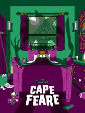 2017 SIMPSONS CAPE FEARE VARIANT SILK SCREEN PRINT POSTER FLOREY MONDO COA #/50