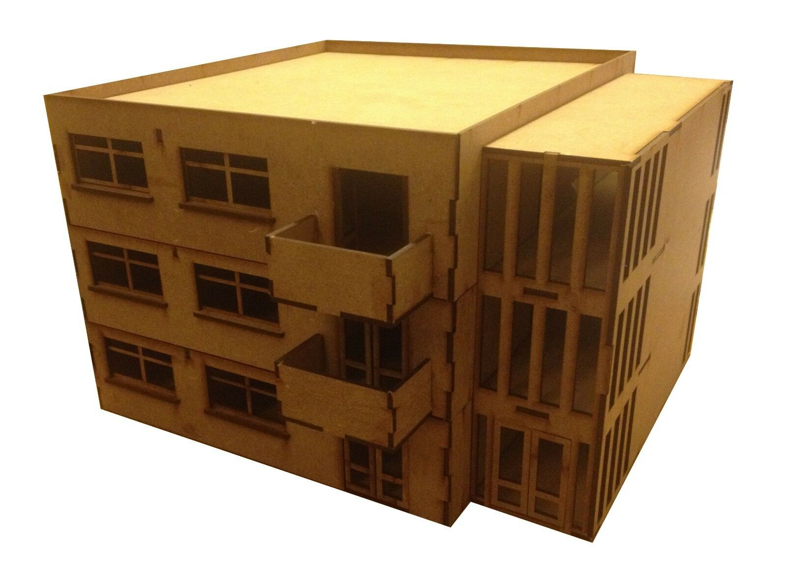 Láser de corte de MDF de 28 mm bloque de apartamentos