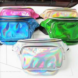PU-Fanny-Pack-Waist-Chest-Bag-Laser-Purse-Translucent-Reflective