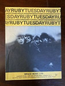 NICE-ROLLING-STONES-034-RUBY-TUESDAY-034-MIRAGE-MUSIC-SHEET-MUSIC-1967-10159