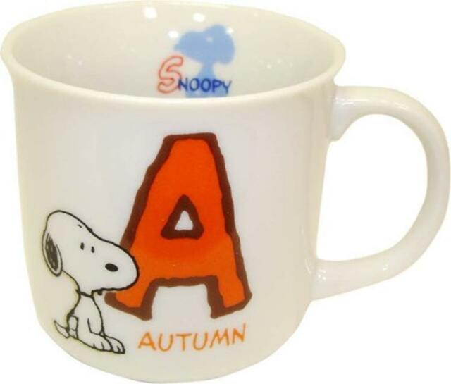 Vintage Snoopy Peanuts Initial Mug A Autumn Coffee Tea Cup Gift
