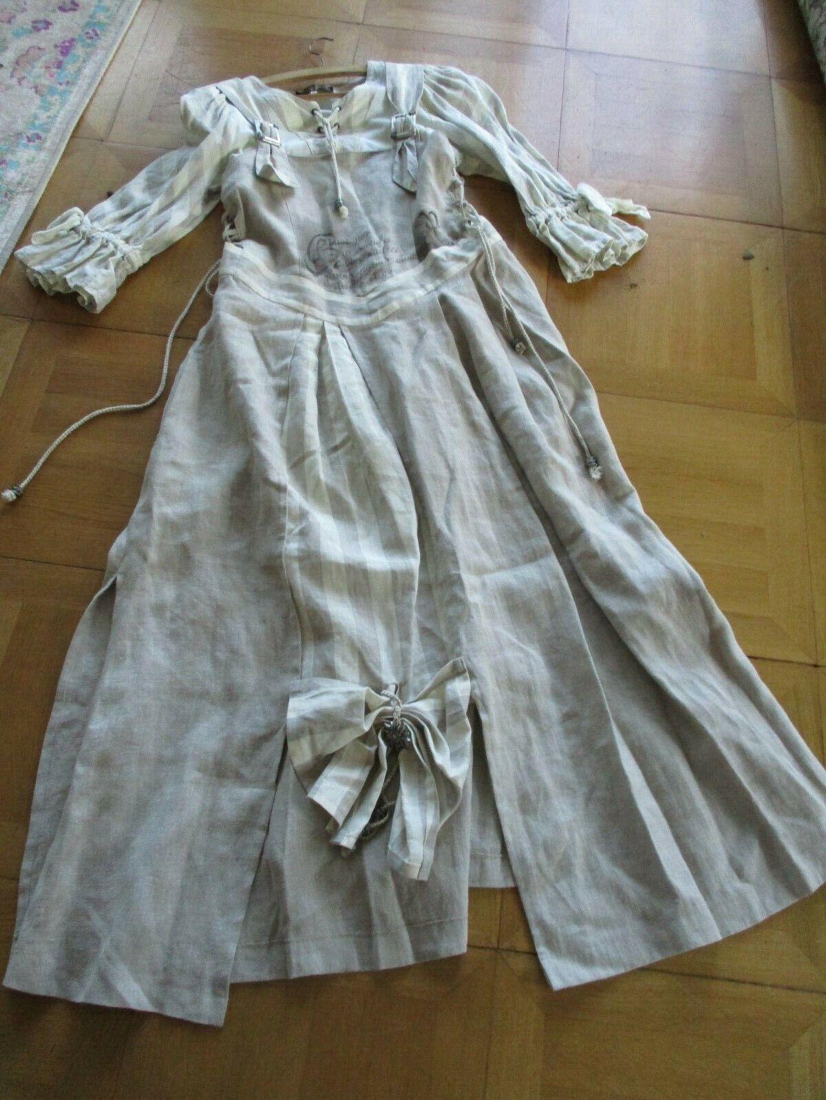 Edel Designer Trachten vestido  largo leinendopino Design s-m única  marca de lujo