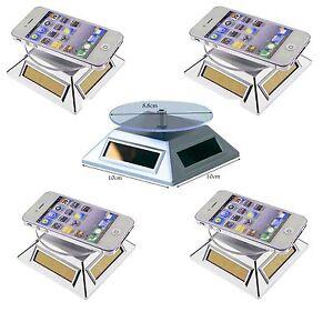 5 Stück Solar Drehteller 360° Präsentiertell<wbr/>er Schmuck Drehbühne Uhrenständer
