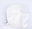 PU Leather Soft Elastic Hood Face Open Mask Breathable Holes White