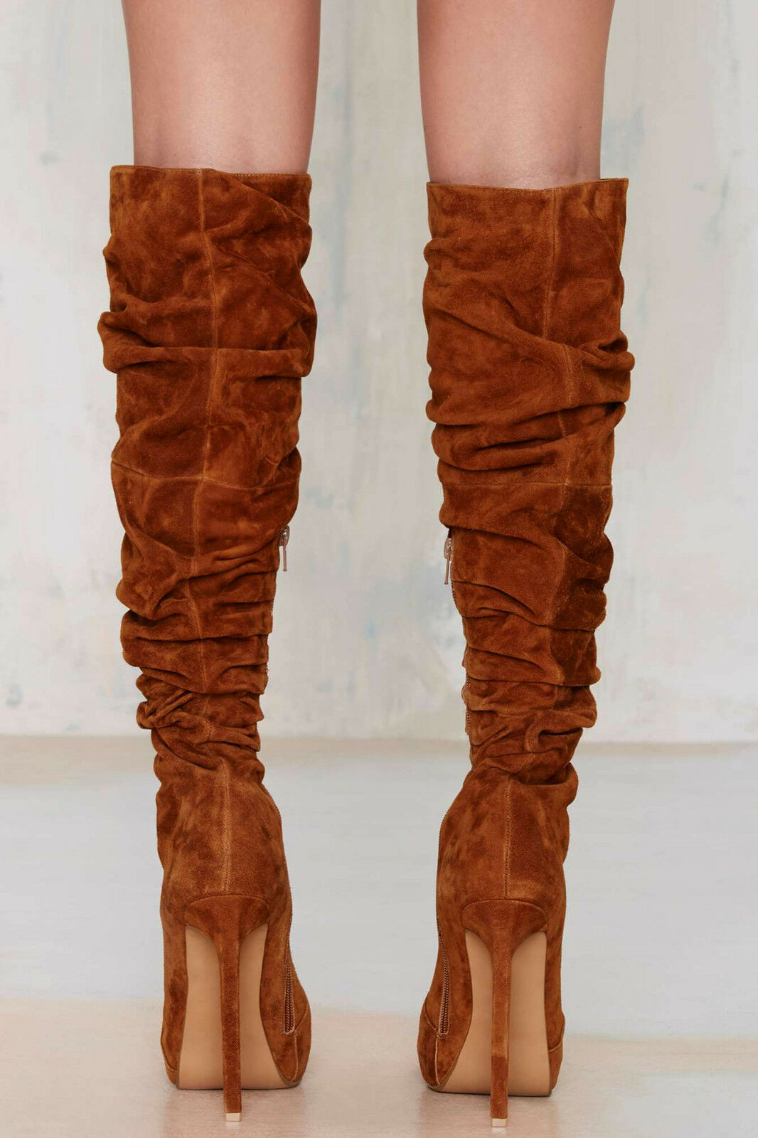 NEW SUEDE JEFFREY CAMPBELL 290 TAN CHESTNUT ALAMODE SUEDE NEW Stiefel Schuhe SZ 6.5 2ed460