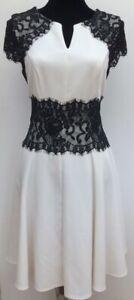 New-Designer-Julien-Macdonald-Winter-White-amp-Black-Lace-Skater-Party-Dress-12-14