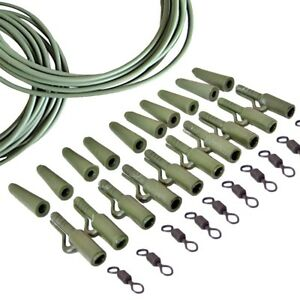 EG-FM-32PCS-SET-FISHING-END-TACKLE-CARP-WEIGHT-LEAD-CLIPS-SWIVEL-RIG-TUBE-TOOL